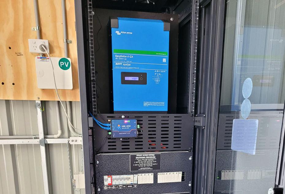 Solar battery setup created by Excel Power team