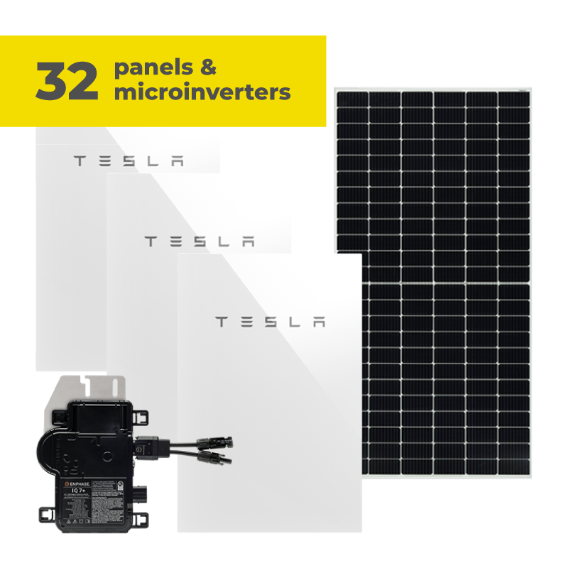 34 panels and microinverters