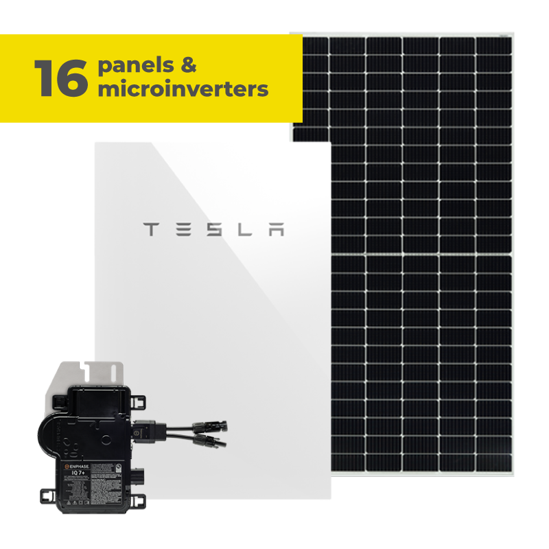 18 panels and microinverters