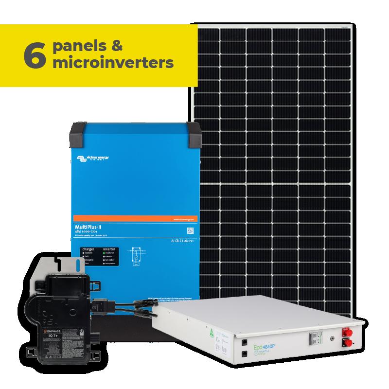 6 Panels & Microinverters