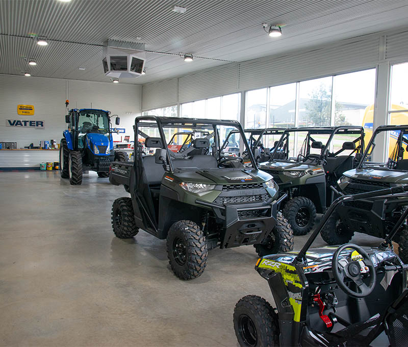 Vater Machinery Showroom with Polaris ATV's